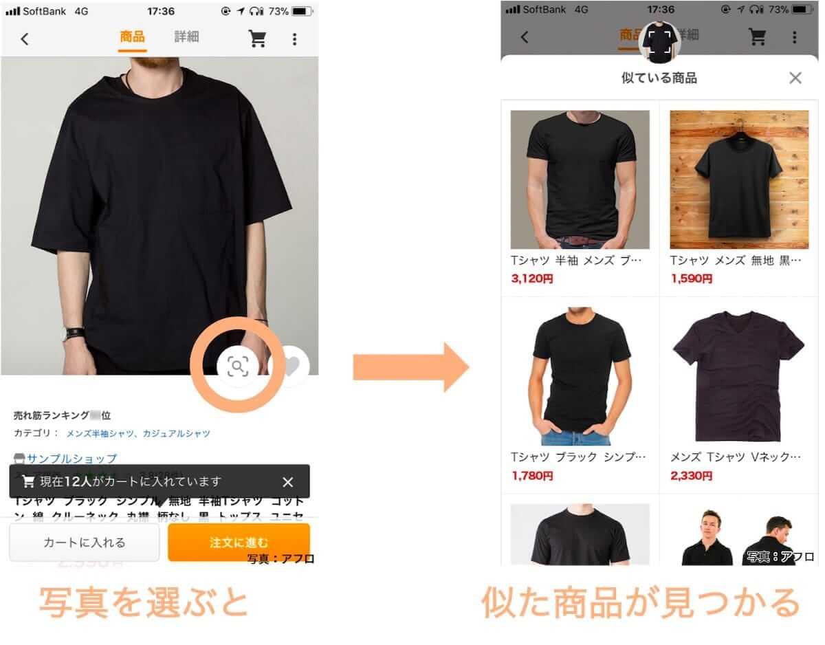 ■類似画像検索でネット通販を使いやすく