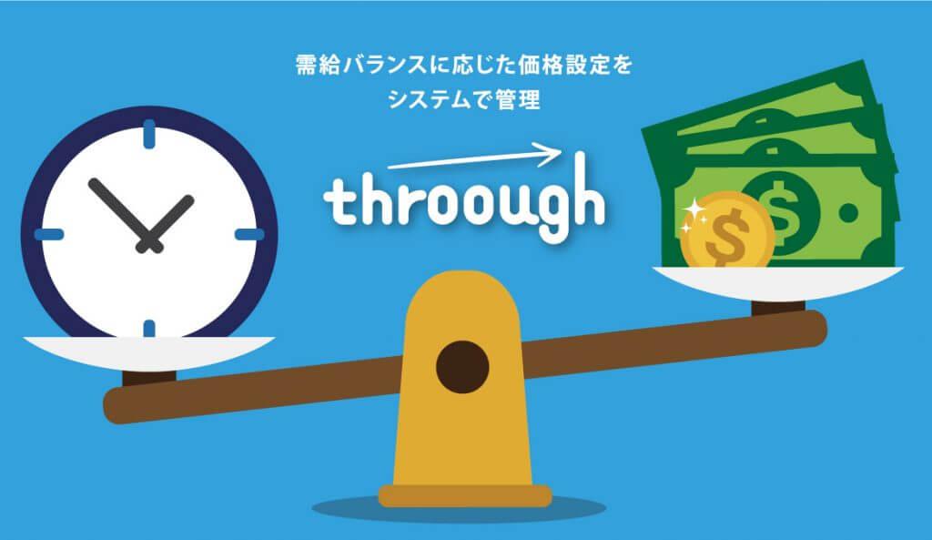 throoughは需給バランスに応じた価格設定をシステムで管理
