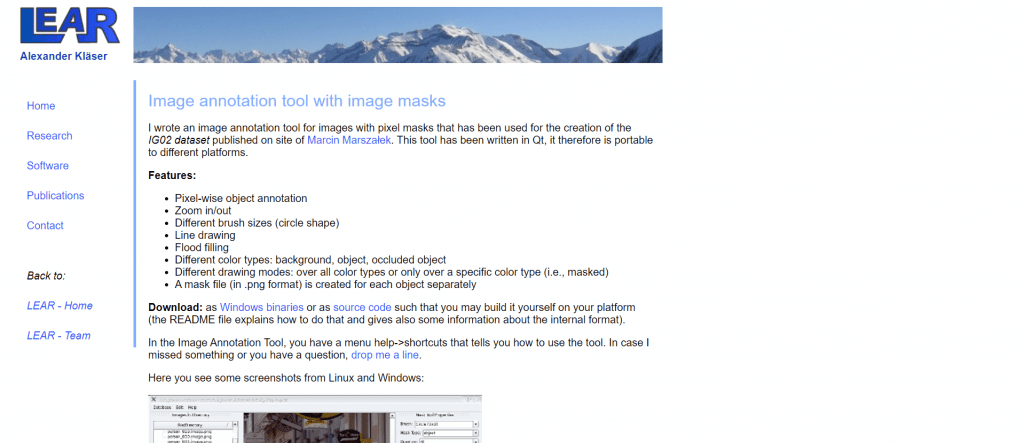 LEAR Image Annotation Tool